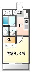 ソレイユIII番館[2階]の間取り