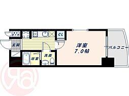 Osaka Metro千日前線 桜川駅 徒歩1分の賃貸マンション 15階1Kの間取り