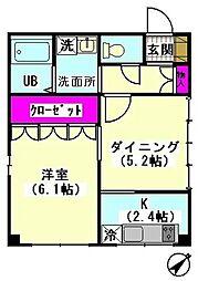 羽田ツインコート[104号室]の間取り