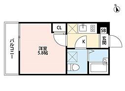 フォレスティ船堀(フォレスティフナボリ)[3階]の間取り