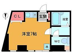 石井第二ビル[3階]の間取り