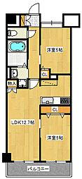Estaci−on Shinozaki[3階]の間取り