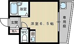 メゾンアンティーム[1階]の間取り