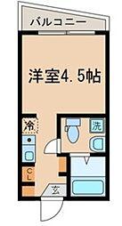 仮称)中野区中野3丁目計画 2階ワンルームの間取り