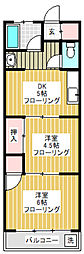 東京都世田谷区桜上水5丁目の賃貸マンションの間取り