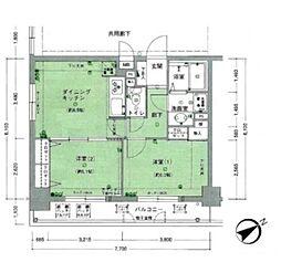 リバーサイドタワー蔵前[11階]の間取り
