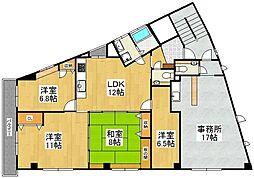 UMIBE姪浜南ビル[2号室]の間取り