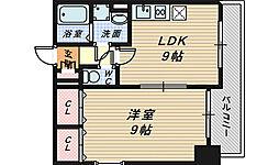 シティーコート堺駅前ロータリー[3階]の間取り