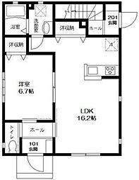 プリザントホームII[1階]の間取り