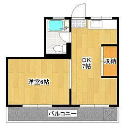 永和第六ビル[4階]の間取り