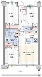 神奈川県横浜市南区大岡3丁目の賃貸マンションの間取り