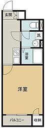 西武多摩湖線 青梅街道駅 徒歩8分の賃貸アパート 1階1Kの間取り