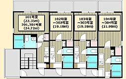 JR京浜東北・根岸線 大宮駅 徒歩7分の賃貸アパート 1階1Kの間取り