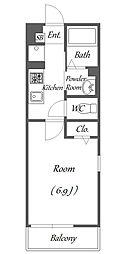 ローズパーク七番館[2階]の間取り