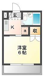 愛知県豊橋市曙町字南松原の賃貸マンションの間取り