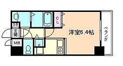 レジディア天神橋[7階]の間取り