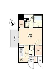 東京メトロ丸ノ内線 方南町駅 徒歩5分の賃貸マンション 5階1Kの間取り