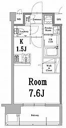 福岡市地下鉄空港線 中洲川端駅 徒歩8分の賃貸マンション 2階ワンルームの間取り