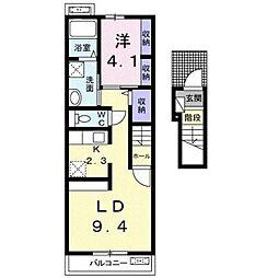 ロード ナカシマ[2階]の間取り