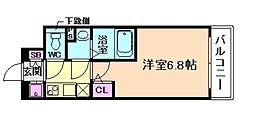 エスリード新福島[5階]の間取り