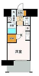 福岡市地下鉄七隈線 渡辺通駅 徒歩5分の賃貸マンション 11階1Kの間取り