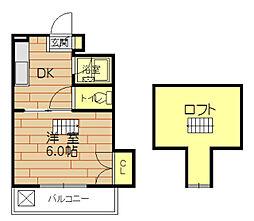 コーポウイング[305号室]の間取り