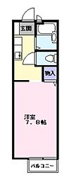 千葉県松戸市六実6丁目の賃貸アパートの間取り