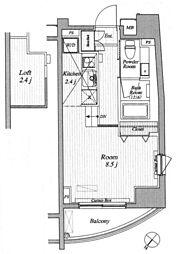 ブランシック白金台[4階]の間取り