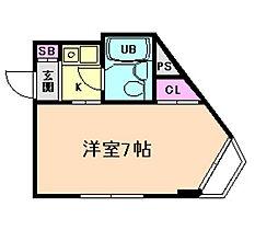 ビブレ佐々木[4階]の間取り