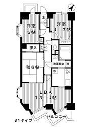 東京都練馬区桜台3丁目の賃貸マンションの間取り