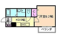 みおつくし都島[5階]の間取り