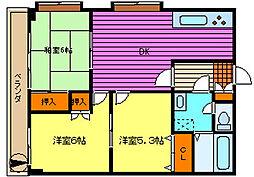 第93新井ビル[303号室]の間取り