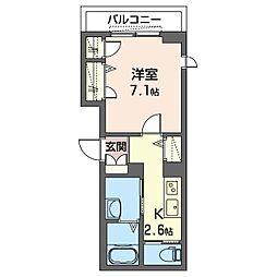 仮)板橋区清水町シャーメゾン 4階1Kの間取り