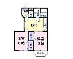 プロムナードK[1階]の間取り
