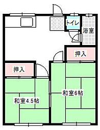 若葉荘[23号室]の間取り