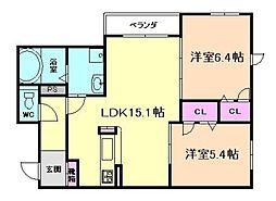 シャーメゾン吉野[1階]の間取り