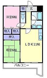 エスポワール恵我之荘[4階]の間取り