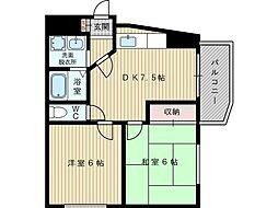 シャトー大塚[4階]の間取り