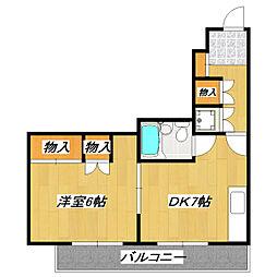アーク市川マンション[3階]の間取り
