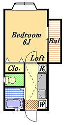 ベイサイドフジ[2階]の間取り