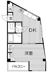 セーコー第5コーポ 2階1DKの間取り