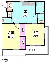 リジェールイン大森 (安心の鉄筋コンクリートマンション)[203号室]の間取り