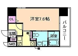 ジュネーゼ京町堀パークサイド[11階]の間取り
