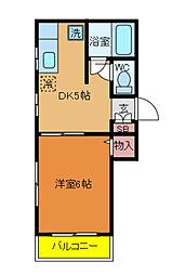 千葉県松戸市小金きよしケ丘3丁目の賃貸アパートの間取り