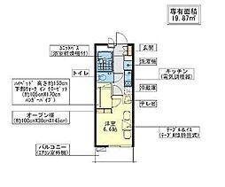 JR常磐線 天王台駅 徒歩6分の賃貸アパート 3階1Kの間取り