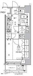 セジョリ虎ノ門 7階1Kの間取り