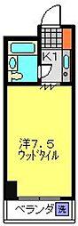 パークヒルズ横浜[102号室]の間取り