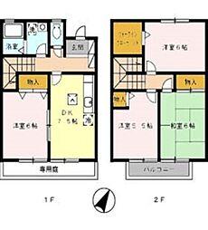 [タウンハウス] 岡山県倉敷市東富井 の賃貸【/】の間取り