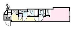 ミライズ世田谷豪徳寺 3階ワンルームの間取り