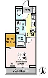 コンフォール戸田公園 3階1Kの間取り